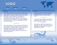 Blue web site template - vector. Vector blue  web site template Royalty Free Stock Photos