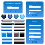 Blue Web Template Royalty Free Stock Photo