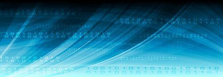 Blue web vector tech binary code header Royalty Free Stock Photography