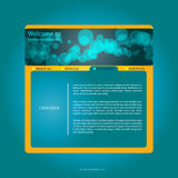 Blue webdesign  Stock Image