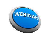 Blue webinar icon isometry Stock Images