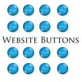 Blue website buttons. Button set of blue website buttons Stock Photography