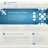 Blue website creative template Royalty Free Stock Photos
