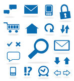 Blue website icons Stock Photos