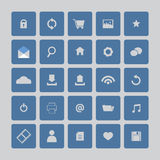Blue Website Icons Set Royalty Free Stock Photography