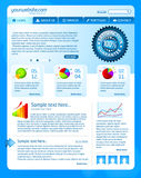 Blue website template Stock Photo