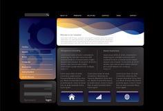 Blue website template Stock Image