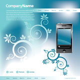 Blue Website Template Royalty Free Stock Photography