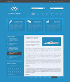 Blue website template Royalty Free Stock Images