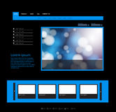 Blue Website Template Royalty Free Stock Photo