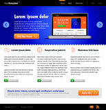 Blue Website Template: Front Page Royalty Free Stock Photo