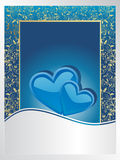 Blue wedding anniversary card Stock Images