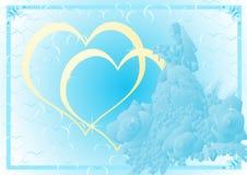 Blue wedding background Royalty Free Stock Photos