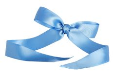 Blue Wedding or Birthday Gift Ribbon royalty free stock photos