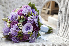 Blue wedding bouquet Royalty Free Stock Images