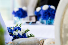 Blue. Wedding bouquet in hotel Habakuk Royalty Free Stock Image