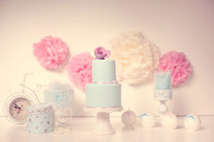Blue wedding cake Stock Images