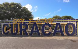 Curacao sign in Willemstad, Curacao Royalty Free Stock Images