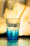 Blue wet glass Royalty Free Stock Image
