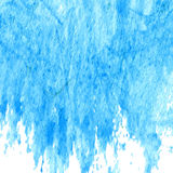 Blue wet painting. Watercolor blue wet painting flow from above. Vector illustration Royalty Free Stock Images