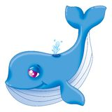 Blue whale. Sweet blue-whale with a fairy melancholic gaze Stock Photography