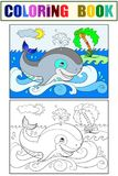 Cartoon Blue Whale sto...