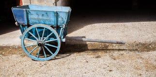 Blue Wheelbarrow Royalty Free Stock Photo