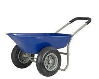 Blue wheelbarrow Royalty Free Stock Photo
