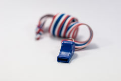 Blue whistle Royalty Free Stock Photography