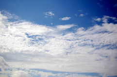 Blue and white. Hong Kong is lack of blue sky since it has been polluted by the dust and other pollutants, it is nice to see a blue sky here with clouds Royalty Free Stock Photo