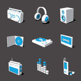 Blue-white 3D icon set 07 Stock Photo