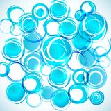Blue abstract background with grunge circles Royalty Free Stock Images