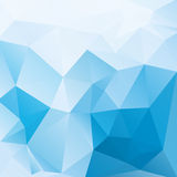 Blue and white abstract background polygon Royalty Free Stock Photos