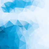 Blue and white abstract background polygon Stock Image