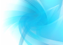 Blue and white abstract background. Unique abstract background with pale blue curves and creases separating areas  of different density on the right hand side Stock Images