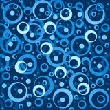Blue  and white abstract background with  and white circles and Royalty Free Stock Images