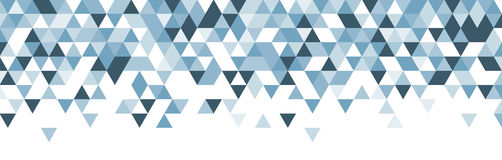 Blue and white abstract banner. Stock Photography