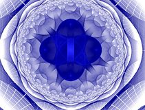 Blue and white abstract decoration Royalty Free Stock Photography