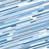 Blue and white abstract dynamic striped seamless pattern, vector. Background Stock Image