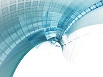 Blue on white abstract futuristic background Royalty Free Stock Image