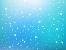Blue and white abstract light spots or snowflakes bokeh seamless pattern, vector vector illustration