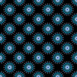 Blue and White Abstract Seamless Pattern on a Black Background Royalty Free Stock Photo