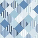 Blue and white abstract simple checker striped geometric seamless pattern, vector vector illustration