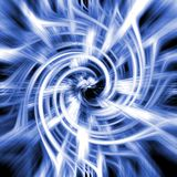 Blue and white abstract swirl Stock Image