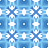 Blue white abstract texture. Textile print pattern. Simple background illustration. Home decor fabric design sample. Contrast seam Stock Photo