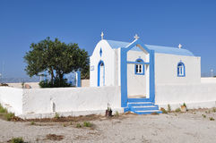 Blue and white-Agios Ioannis church of Kefalos Stock Photo