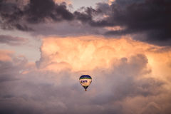 Blue and White Air Balloon Stock Images