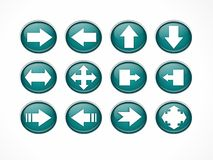 Blue/ white arrows. Blue/white arrows icons for website Royalty Free Stock Images