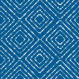 Blue and white asian style concept seamless pattern. Modern simple dots repeatable motif inspired by japanese batik fabric culture. vector illustration Stock Images
