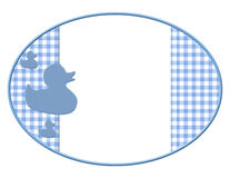 Blue and White Baby Frame for your message or invitation Royalty Free Stock Images